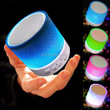 Portable Mini LED Bluetooth Speakers Wireless Small Music Audio TF USB FM Light Stereo Sound Speaker For Phone