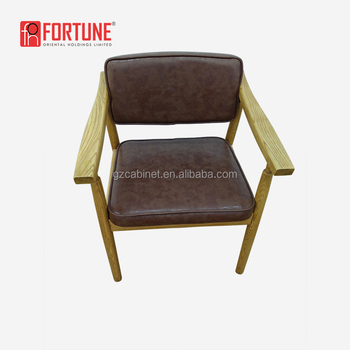 High end restaurant wooden chair slats solid wood dinner chair for restaurant FOH-17040Y