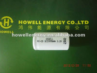 sc battery 1.2v /sc battery 1.2v with 2000mah /ni-cd sc battery 1.2v with 2000mah