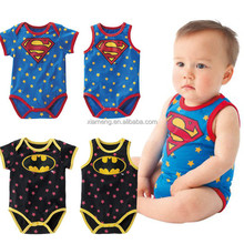 2016 infant cartoon baby clothing boy's spiderman romper spiderman baby rompers with factory price