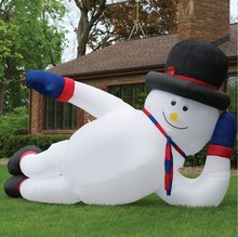 Big Guy Inflatable Snowman Lying down snowman inflatable cartoon for sale