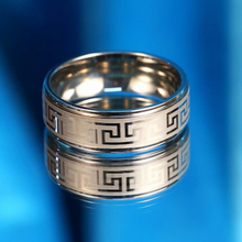Common stainless steel fret laser engraved buddha ring