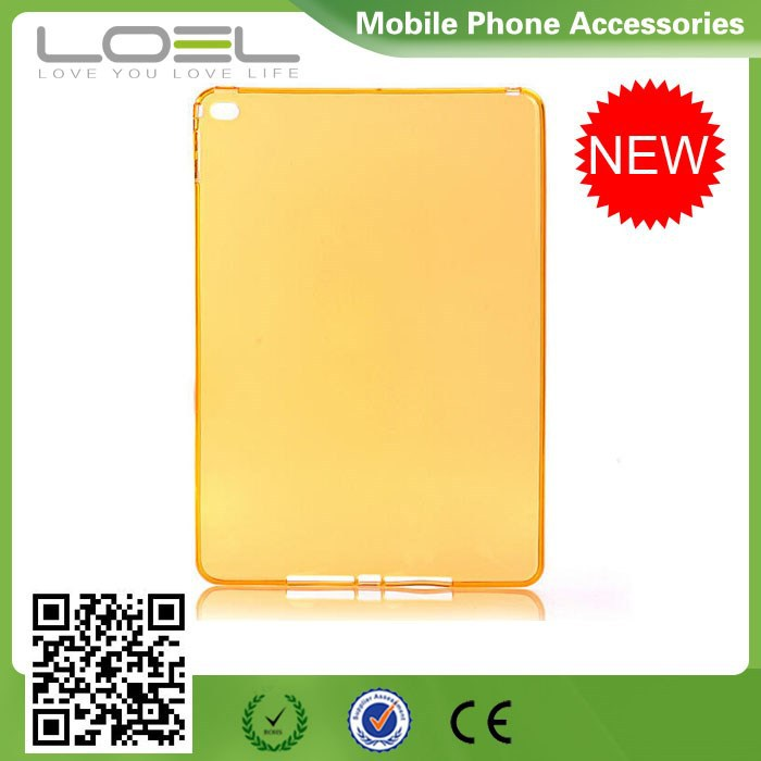 2015 Transparent Clear Protective TPU Back Cover Case for iPad air 2 for iPad 6