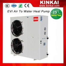 GuangZhou Supplier EVI low ambient air to water heat pump -25C for house heating