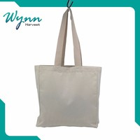 Promotional Logo Printed Wholesale plain white cotton canvas tote bag