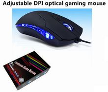 Wired usb optical Mouse high precision led light gaming mouse