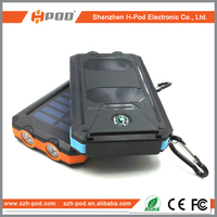 8000mah high capacity!Best selling fashion design solar power bank waterproof and drop resistance solar power bank