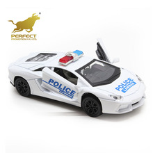 factory price 1:32 scale diecast open door toy with light and sound,pull back metal car police toy