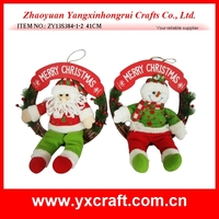 Hang Decorations Display Ornament Santa Claus for Christmas,Christmas wreath