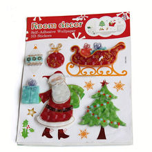 High Quality Christmas Snow Wall Stickers & Vinyl Wall Decal & Window Wall Stickers for Kids Room XY8059