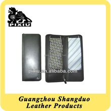 Top Material Factory Price Custom Black Color Leather Tie Box for Gift
