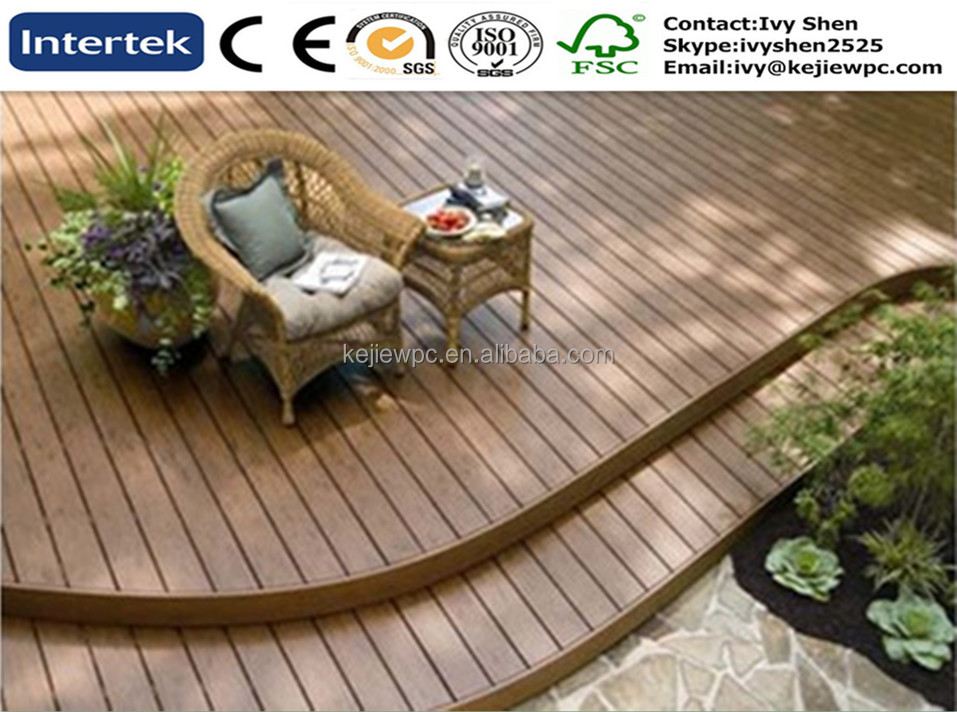 WPC Decking For Exterior Flooring Outdoor Deck Board Water Proof Law Maintainance