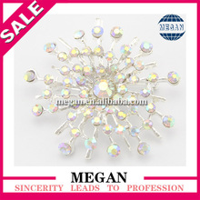 2014 Hottest Sale diva rhinestone brooch pin