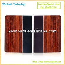 Eco-friendly handmade wood leather cover for ipad 2/3/4 case-Andy
