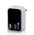 23W 2 Port Wall Qualcomm Certified Quick Charge 3.0 travel Charger for Android