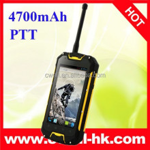 4.5 Inch MTK6589 Quad Core Walkie Talkie IP68 Waterproof Rugged mobile phone 4700mAh big battery Snopow M9