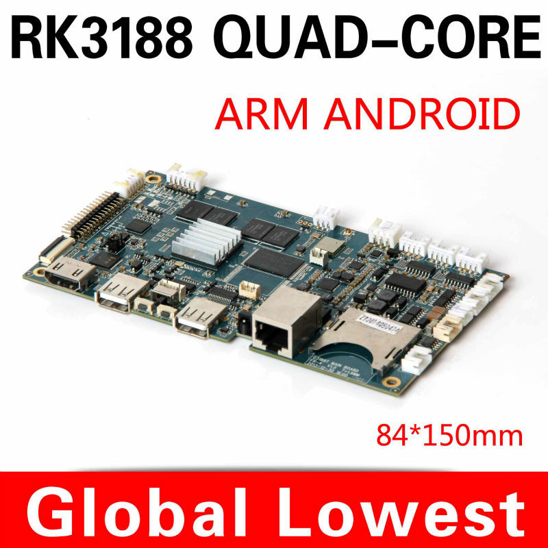 2014 New android motherboard Rk3188 mini motherboard Google Android 4.2 Support android or ubuntu 7 * 24 hours unattended