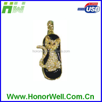 Twister Golden Diamond Persian Cat Usb Flash Drive Flash Memory Thumbdrive