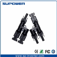 IP67 MC4 Solar 2 to 1 H type branch Connector for PV Cable Connection accessories