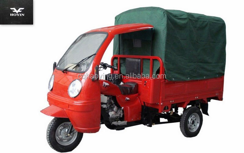 Hydraulic Dumping Three Wheel Motorcycle With Roof