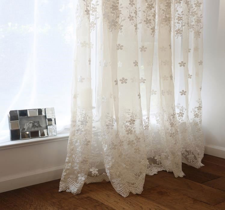 2016 new design rose print curtains luxury lace curtain
