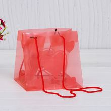 Online shopping india pp gift bag, transparent packaging pp bag with flower printing