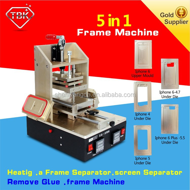 Glue/polarized remove + preheating + Sumsung separator + iphone frame laminating iphone 6 Glass Replacement machine