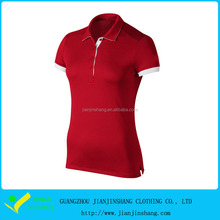 Sex Slim Fitted Hot Red Dri Fit Jersey Cool Plus Golf Polo Shirt Promotion