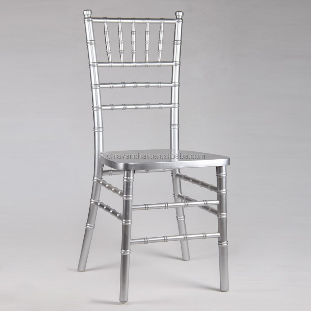 Catering Supplies Wholesale Solid Wooden Chiavari Chairs Silver