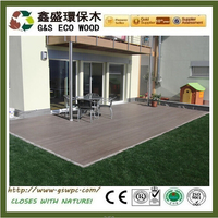 2016 hot sales outdoor wpc decking water and rot proof wood plastic composite decking anti-uv board wpc