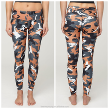 Camo print High Rise Slim Fit Women's supplex yoga Pants, leggings sport fitness