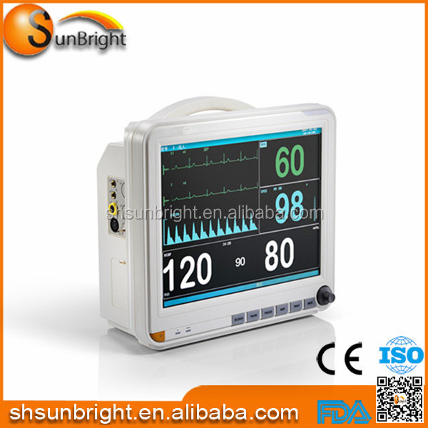 Hospital Operation Room ICU clinic Emergency Ambulance SUN-700K battery Portable Patient Monitor