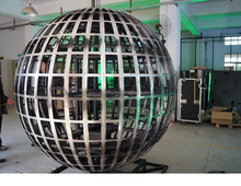 flexible full color sphere ball shape led display screen indoor P4 for Geological survey