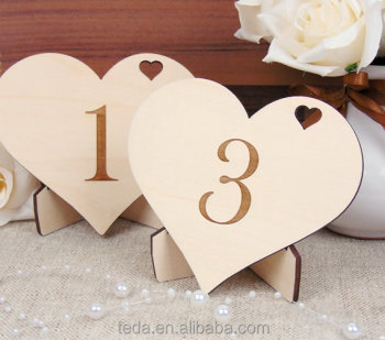 Wedding Table Decoration wood table number with holder
