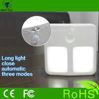2016 high quality motion sensor light night light with battery for indoor room hotel and outdoor