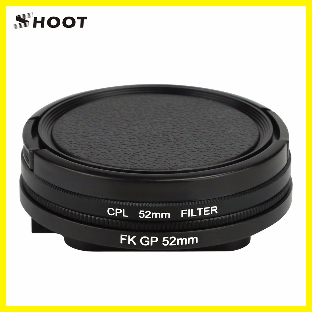 Professional for gopro Hero 5 52mm Uv/cpl Filtro De Lente Action Camera Accessories Lens Cap