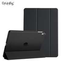 For iPad Pro 10.5 Cover,PU Leather Lightweight Translucent Stand Smart Case Shell Back Cover For New Apple iPad Pro 10.5 Inch