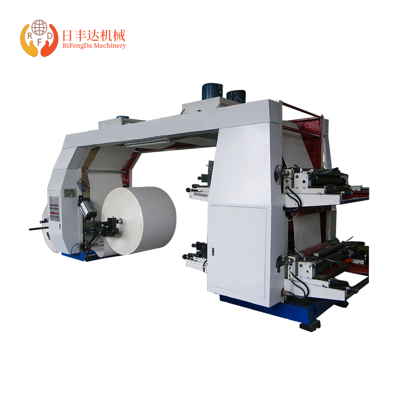 4 Colour Flexo Printing Machine For Plastic Bag