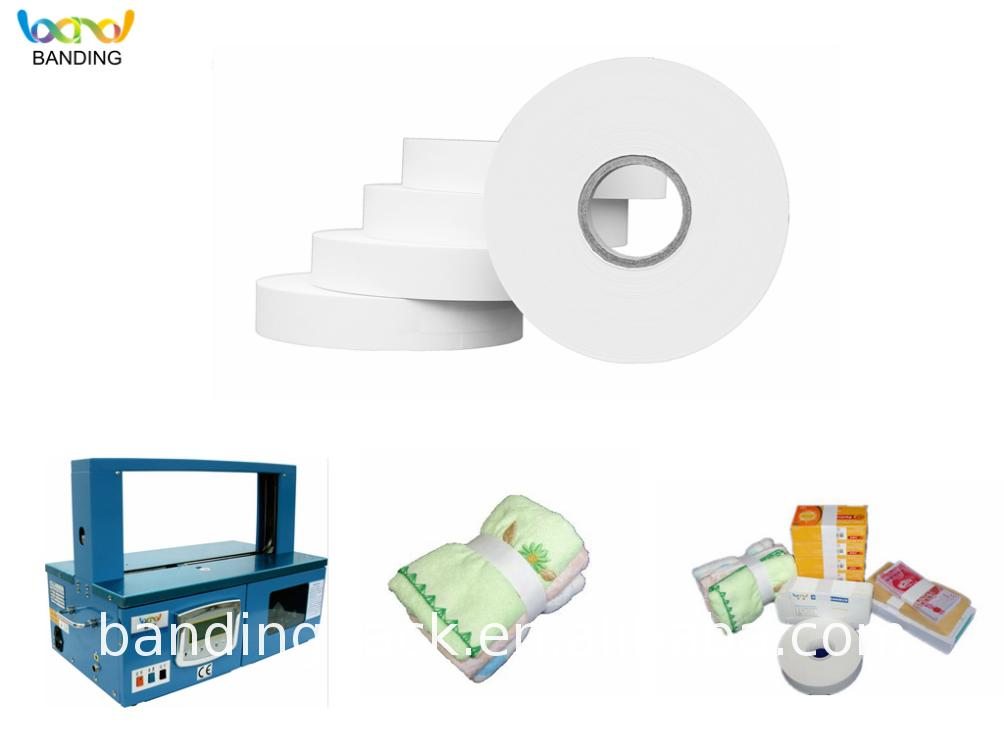 Factory hot sales banding material banknote strapping paper tape for banding machine