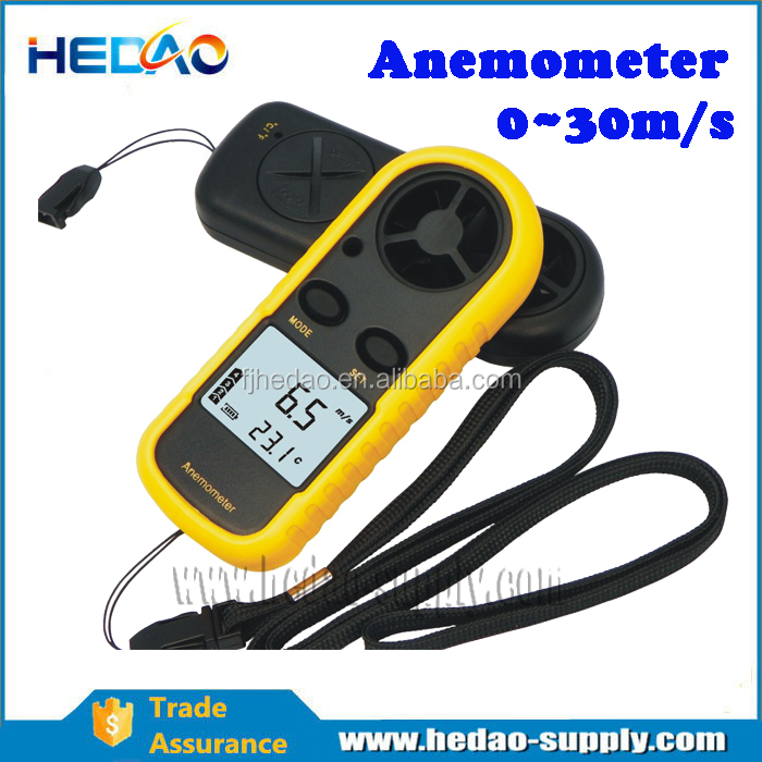 High accuracy/ Easy-to-operate Portable anemometer data logger