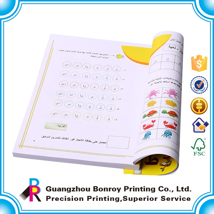 Bulk Customized printing Soft Cover children's book with black lines