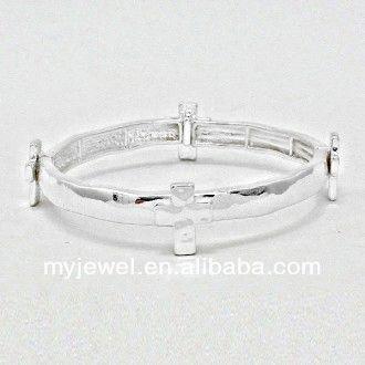 Occident fashion punk style concise 100 pure love plastic cement bracelet novelty watch austrian crystal stretch bracelet/bangle