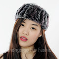 CX-E-37F Knit Ladies Warm Rex Rabbit Fur Headbands For Women