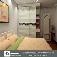 Beauty white wardrobe Louvered Sliding Door bedroom cabinet closet sliding doors