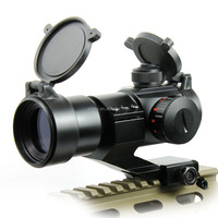 1X35 Red Green Dot Sight laser Telescopic Illuminated M3 Rifle Scope 20mm mount from POERY