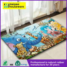 Cute Animals Together Mats Comfortable Rubber Carpet Mat Non-slip Hotel&Home Shoes Welcome Carpet Printed Mats 100% Eco Friendly