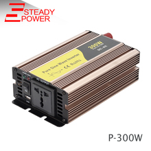 300w 12/24/48vdc to 110/220vac pure sine wave micro control power inverter
