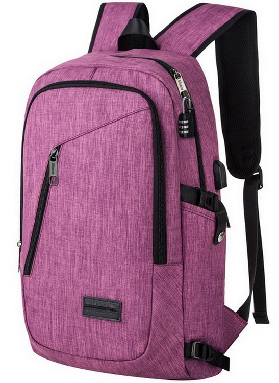 New fashion leisure anti theft computer laptop school usb backpack daypack for girls