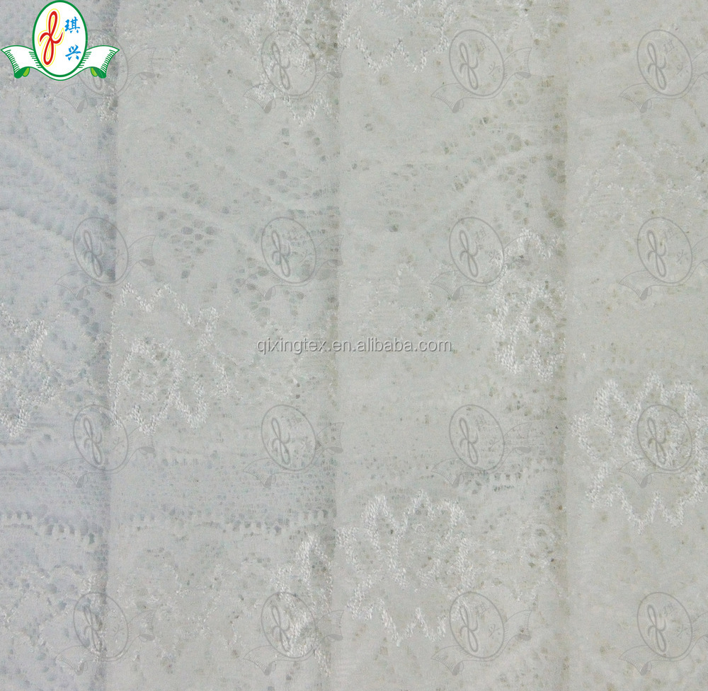 pure printted lace floral jacquard fabric for wedding dress |underwear