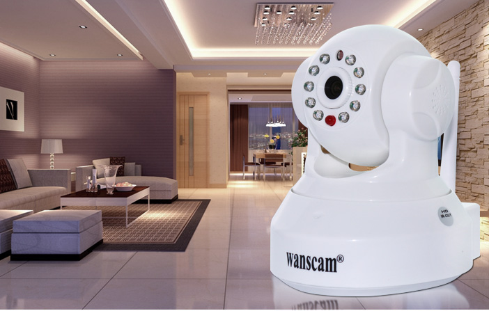 Wanscam Indoor ir-cut good pictures IP Camera with Night View and P2P and Gmai/Hotmail Alert Function
